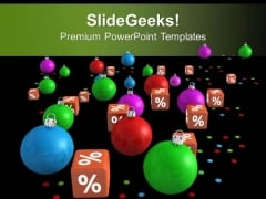Christmas Balls On Discount Sale Beautiful PowerPoint Templates Ppt Backgrounds For Slides 1212