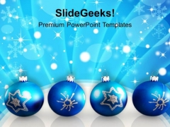 Christmas Baubles Holidays PowerPoint Templates Ppt Background For Slides 1112