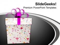 Christmas Box Presents Festival Celebration PowerPoint Templates Ppt Backgrounds For Slides 1212