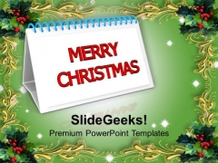 Christmas Calendar Holidays PowerPoint Templates Ppt Backgrounds For Slides 1212