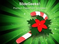 Christmas Candy Cane Holidays PowerPoint Templates Ppt Backgrounds For Slides 1212