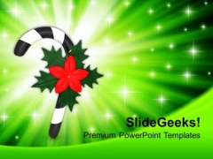 Christmas Candy Stick Holidays PowerPoint Templates Ppt Backgrounds For Slides 1212
