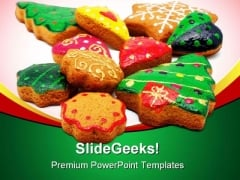 Christmas Cookies Festival PowerPoint Backgrounds And Templates 0111