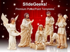 Christmas Crib Jesus Religion PowerPoint Backgrounds And Templates 1210