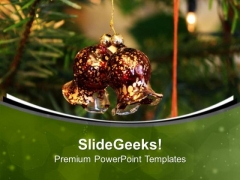 Christmas Decoration Bells For Celebration PowerPoint Templates Ppt Backgrounds For Slides 0713