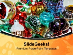 Christmas Decoration Items For Lively Effect PowerPoint Templates Ppt Backgrounds For Slides 0513