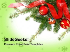 Christmas Decorations Festival PowerPoint Templates And PowerPoint Backgrounds 0611