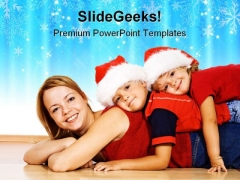 Christmas Family PowerPoint Templates And PowerPoint Backgrounds 0511
