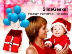 Christmas Family With Gifts PowerPoint Templates Ppt Backgrounds For Slides 1212