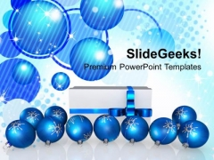 Christmas Gift And Baubles Celebration Event PowerPoint Templates Ppt Backgrounds For Slides 1112
