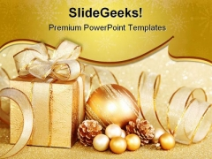 Christmas Gift Festival PowerPoint Templates And PowerPoint Backgrounds 0411