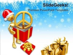 Christmas Gift Peace Festival PowerPoint Templates And PowerPoint Backgrounds 0811