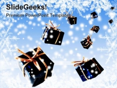 Christmas Gifts From Heaven Holidays PowerPoint Template 1010