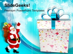 Christmas Gifts With Santa Claus Festival PowerPoint Templates Ppt Backgrounds For Slides 1112