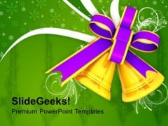 Christmas Golden Bells Holidays PowerPoint Templates Ppt Backgrounds For Slides 1212