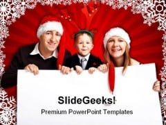 Christmas Invitation Family PowerPoint Background And Template 1210