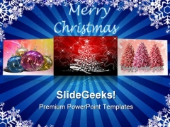 Christmas Postcards Festival PowerPoint Templates And PowerPoint Backgrounds 0311