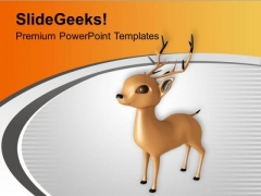 Christmas Reindeer Winter Holidays PowerPoint Templates Ppt Backgrounds For Slides 0113