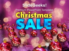 Christmas Sale And Baubles Festival PowerPoint Templates Ppt Background For Slides 1112