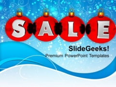 Christmas Sale On Winter Background PowerPoint Templates Ppt Backgrounds For Slides 1112