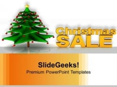 Christmas Sale With Christmas Tree Joy Peace PowerPoint Templates Ppt Backgrounds For Slides 1212