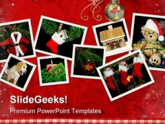 Christmas Scene Festival PowerPoint Backgrounds And Templates 1210