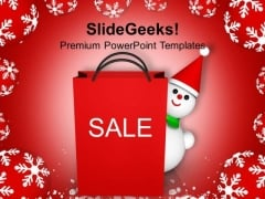 Christmas Shopping Bag Winter Background PowerPoint Templates Ppt Backgrounds For Slides 1112