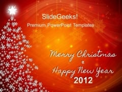 Christmas Tree Abstract PowerPoint Templates And PowerPoint Themes 0212