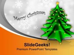 Christmas Tree Background Festival Celebration PowerPoint Templates Ppt Backgrounds For Slides 0113