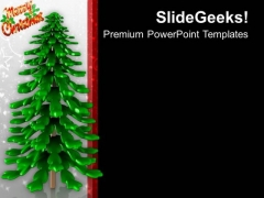 Christmas Tree Celebration PowerPoint Templates Ppt Backgrounds For Slides 0113