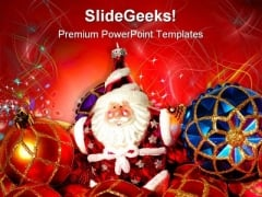 Christmas Tree Festival PowerPoint Templates And PowerPoint Backgrounds 0511