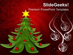 Christmas Tree Festival PowerPoint Templates Ppt Backgrounds For Slides 1112