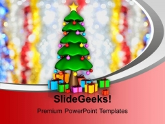 Christmas Tree With Gifts Festival PowerPoint Templates Ppt Background For Slides 1112