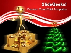 Christmas Tree With Presents Festival PowerPoint Templates And PowerPoint Backgrounds 0411