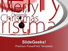 Christmas Wishes For All Family And Friends PowerPoint Templates Ppt Backgrounds For Slides 0613