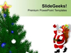 Christmas With Santa Clause Celebration PowerPoint Templates Ppt Backgrounds For Slides 0413
