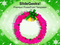Christmas Wreath Decoration Festival PowerPoint Templates Ppt Backgrounds For Slides 1212