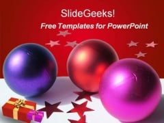 Christmas Balls PowerPoint Template