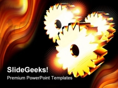 Chromed Gears Business PowerPoint Themes And PowerPoint Slides 0411