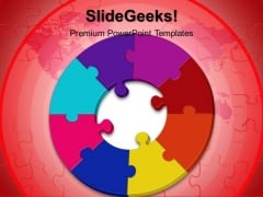 Circular Puzzle Communication PowerPoint Templates And PowerPoint Themes 0512