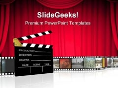 Clap Board Nature PowerPoint Themes And PowerPoint Slides 0511