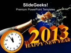 Classic Clock Ticking To Midnight Celebration PowerPoint Templates Ppt Backgrounds For Slides 1112