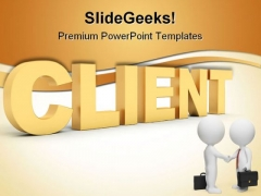 Client Marketing Business PowerPoint Templates And PowerPoint Backgrounds 0511