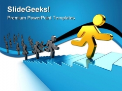 Climb Success PowerPoint Themes And PowerPoint Slides 0511
