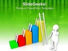 Climb The Ladder To Success PowerPoint Templates Ppt Backgrounds For Slides 0813