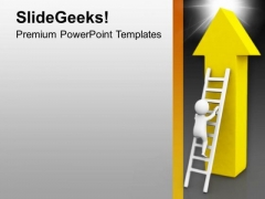Climb The Right Stair For The Sucess PowerPoint Templates Ppt Backgrounds For Slides 0613