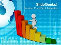 Climb Towards The Success PowerPoint Templates Ppt Backgrounds For Slides 0513