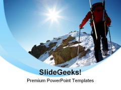 Climber Man Vacation PowerPoint Templates And PowerPoint Backgrounds 0611