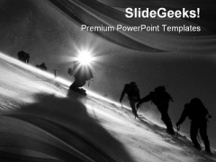 Climbers Climbing Business PowerPoint Templates And PowerPoint Backgrounds 0511