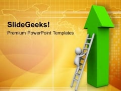 Climbing Business Growth Graph PowerPoint Templates Ppt Backgrounds For Slides 0813